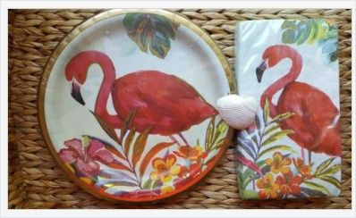 8 Ct Pink Flamingo Gold Paper Plates Napkins Party Hawaiian Luau Tropical | eBay ... & 8 Ct Pink Flamingo Gold Paper Plates Napkins Party Hawaiian Luau ...