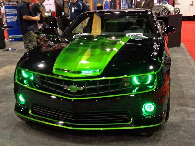 Black Car With Green Stripes Google Search Camaro Car Camaro