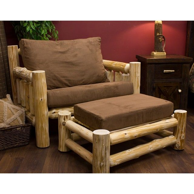 Awesome Rustic Chair And Ottoman Rustic Furniture Log Chairs Dailytribune Chair Design For Home Dailytribuneorg