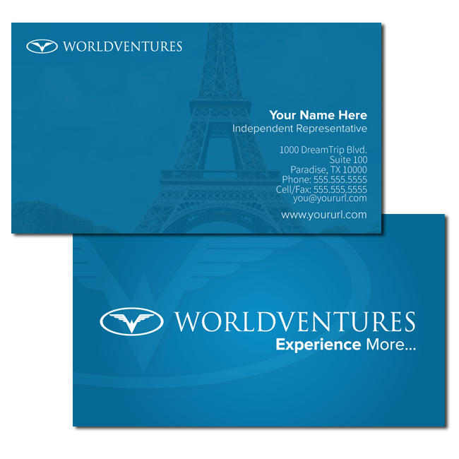 New Blue Business Card World Ventures Travel Business Business