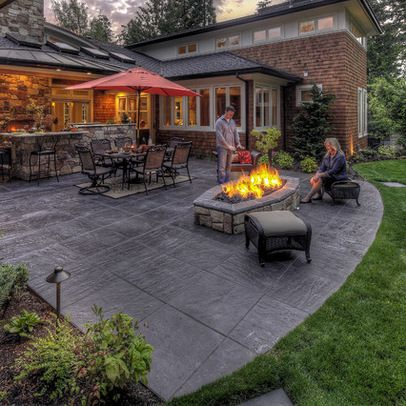 Patio Stamped Concrete Patio Design Ideas Pictures Remodel And
