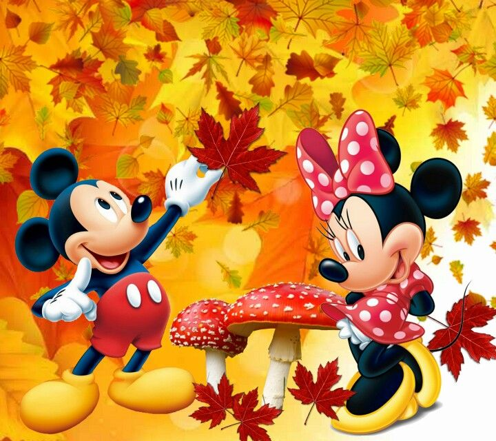 Minnie & Mickey | Minnie loves Mickey 3 | Pinterest | Otoño, Fondos ...
