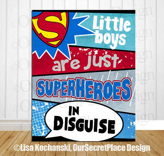 Superhero Wall Art Superhero Decor Superhero Wall Decor Superhero Signs for boys Room Wall Art for Boys Room Wall Decor Room Decor for Boys #quotesaboutlittleboys