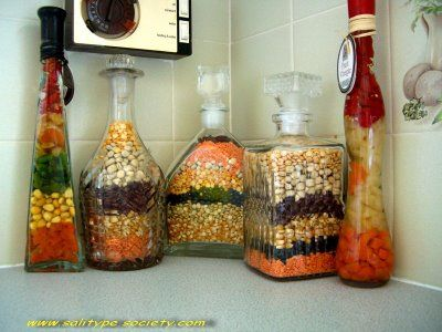 layered food in jar for decorative purposes bottles for decorative purposes but couldn t come - Decorative Jars