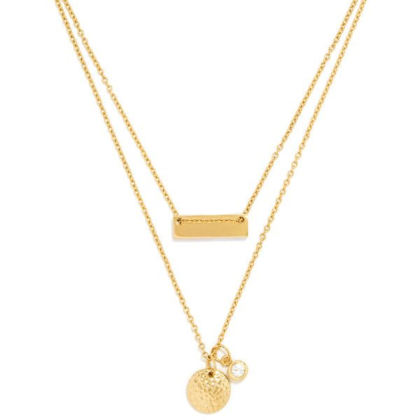 Disc Layered Necklace (33 BRL) ❤ liked on Polyvore featuring jewelry, necklaces, accessories, disc pendant, hammered necklace, hammered disc necklace, pendant jewelry and layered pendant necklace
