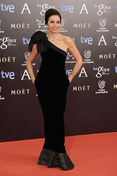 Ana Belén en la alfombra roja de los premios Goya 2014