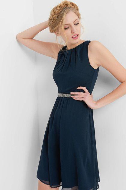 Chiffonkleid mit Strass - Blau | Kleider, Abendkleid