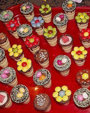 Kleine Kuchen im Waffelbecher #cupcakesrezepte