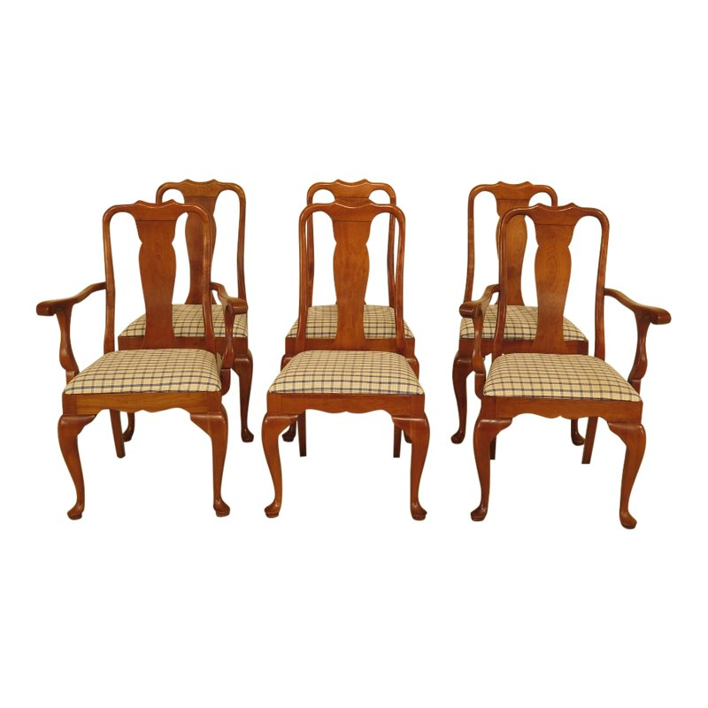 Stickley Cherry Valley Queen Anne Dining Chairs Set Of 6