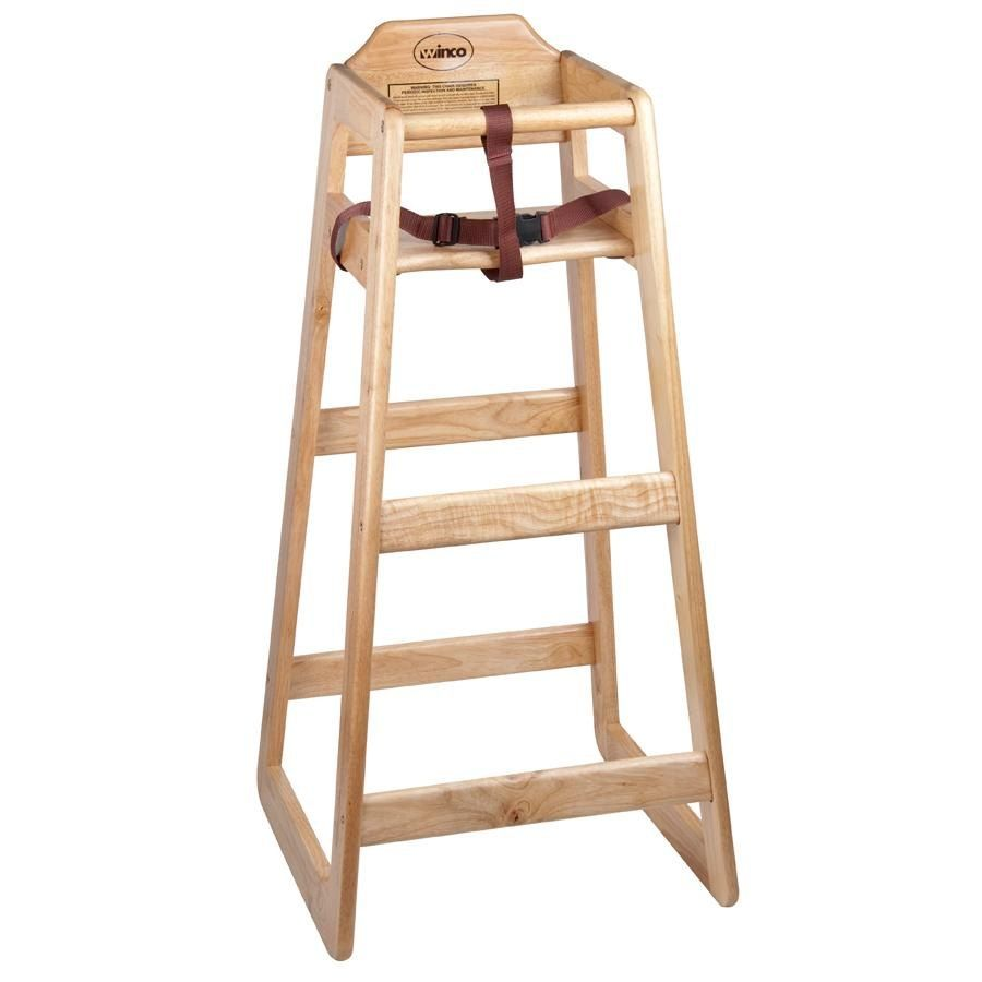 high chair restaurant black and white dining room chairs stacking wooden pub height unassembled our keep young children safe secure at your or s tables with this