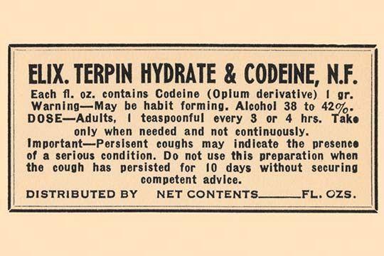 Terpin hydrate fdating