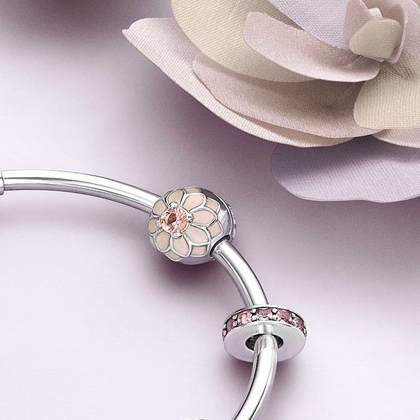 bd448388d Sneak peek: The season's new Blooming Dahlia clip is decorated with cream  coloured enamel with blush pink crystal that creates a feminine charm for  spring.