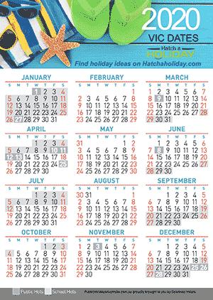 Vic School Holiday Calendar In 2020 School Holiday Calendar Holiday Calendar School Holidays