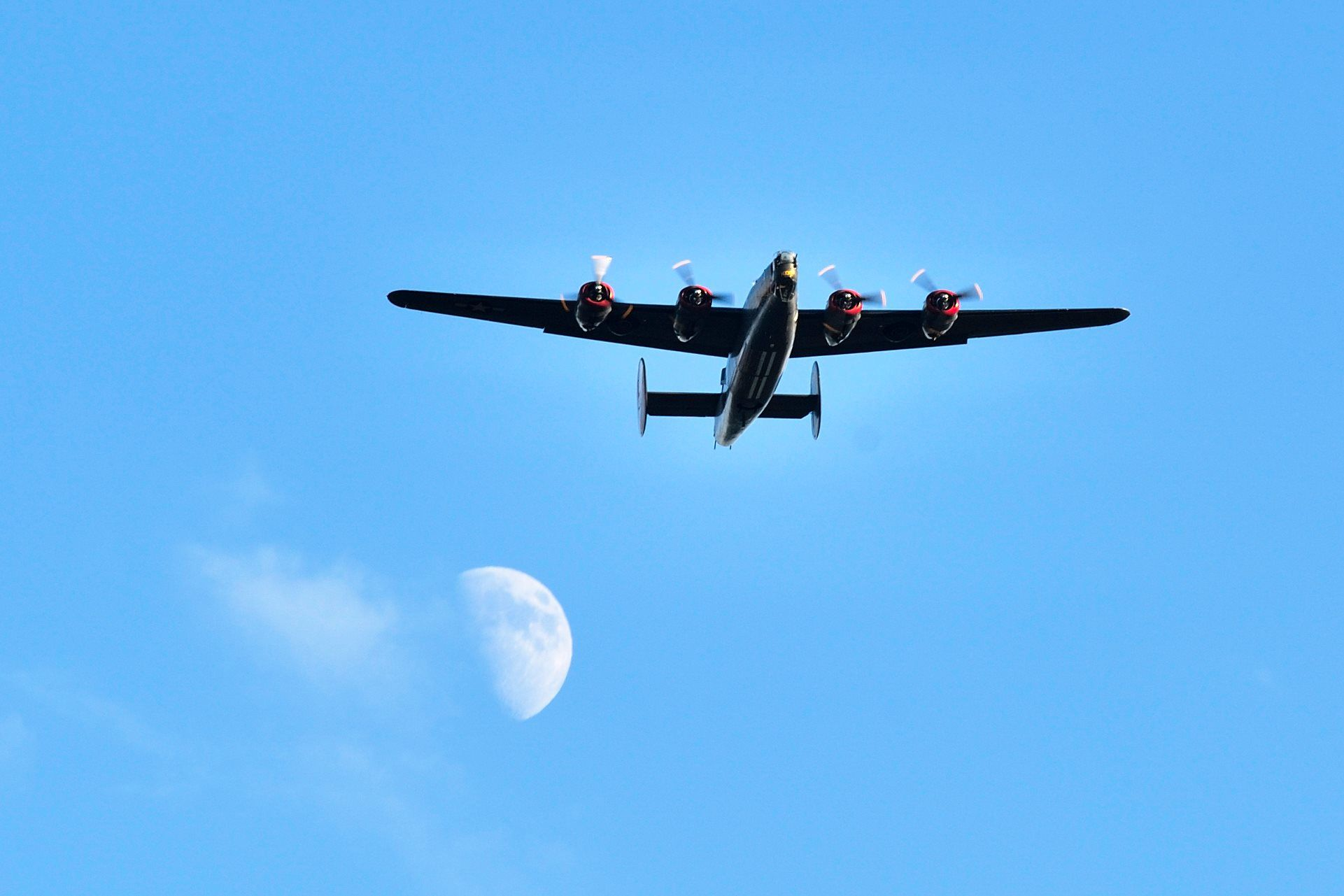 """B24 """"Witchcraft"""" with Moon Fighter jets, Aircraft, Fighter"""