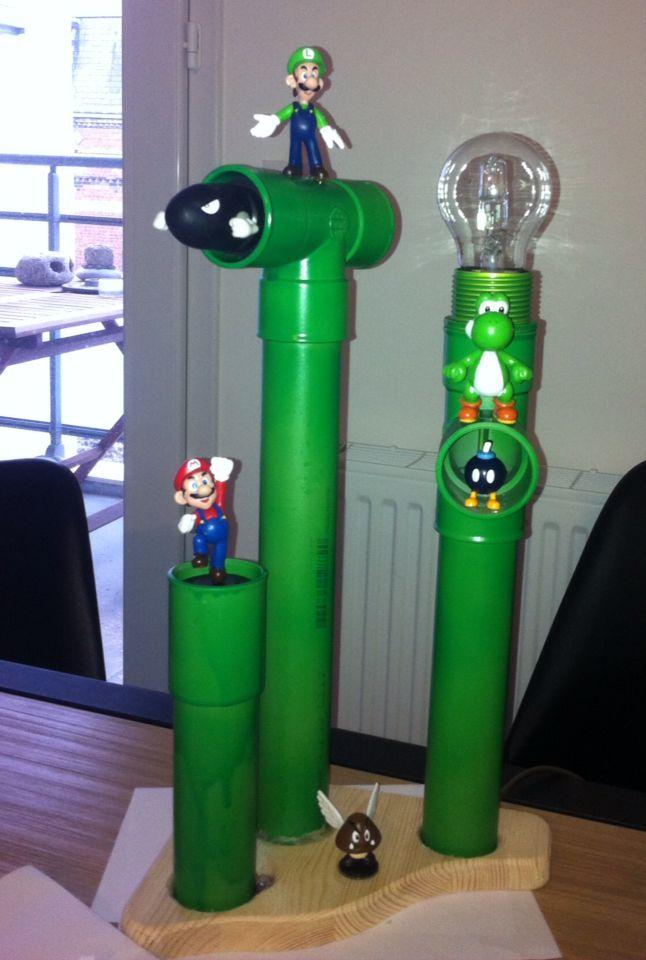 D co de chambre lampe mario et ses amis diy et industriel deco chambre salle de jeux et - Deco chambre mario ...