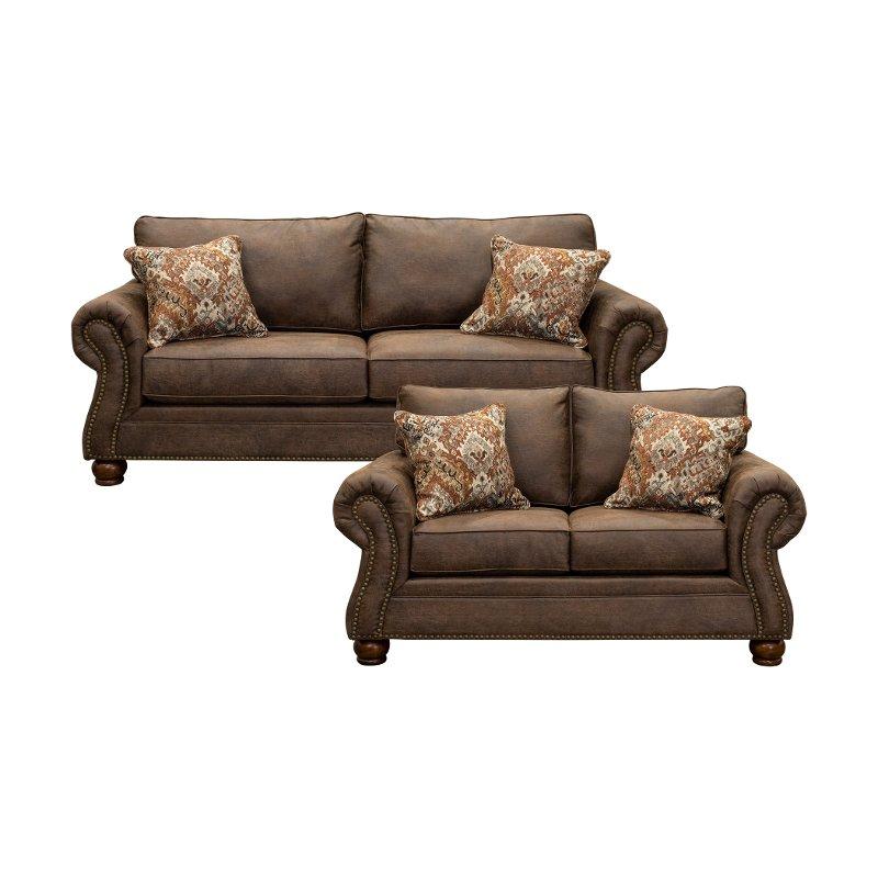 Mocha Brown 2 Piece Living Room Set With Sofa Bed Tahoe Living Room Sets Brown Living Room Decor Room Set