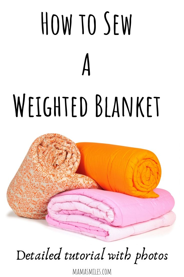 How to make a weighted blanket: DIY Sewing Tutorial