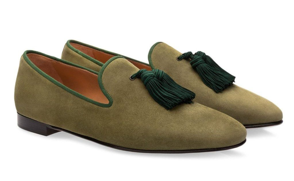 aa70075b3ec8f Olive Green Tassel Velvet Loafers | Amazing deals | Loafers, Olive ...