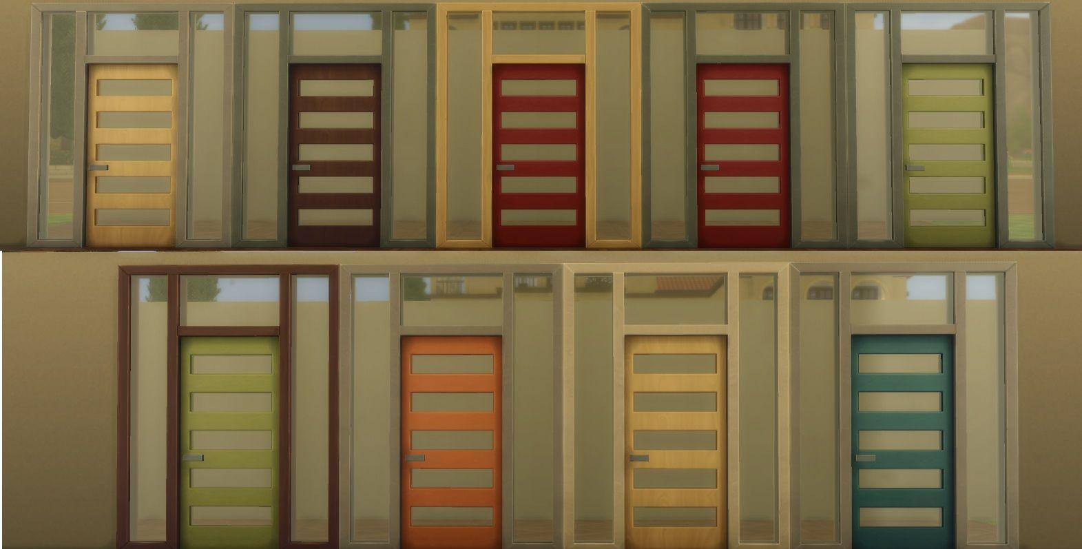 Mod The Sims Sims 4 Doors Modified Geek Pinterest Sims