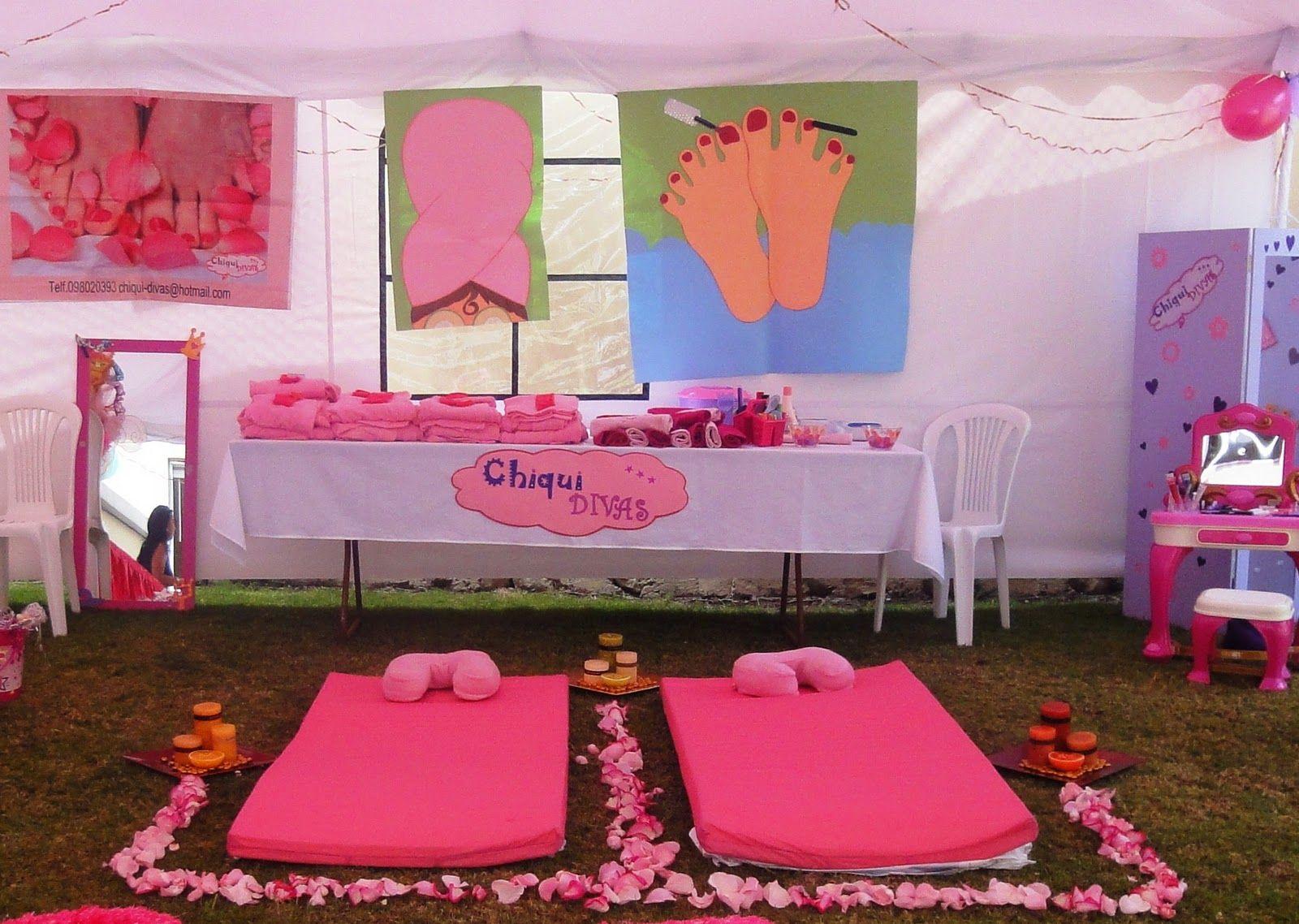 Decoration De Spa dedans ideas para celebrar una fiesta spa para niñas   fiestas kids   salon