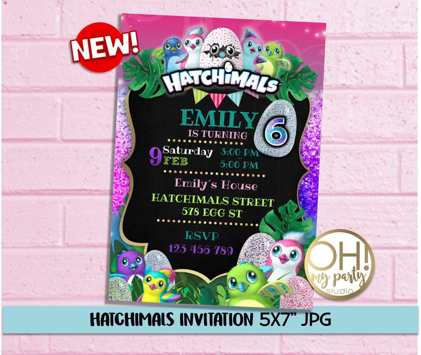 Hatchimals Birthday Party Invitation Hatchimals Birthday