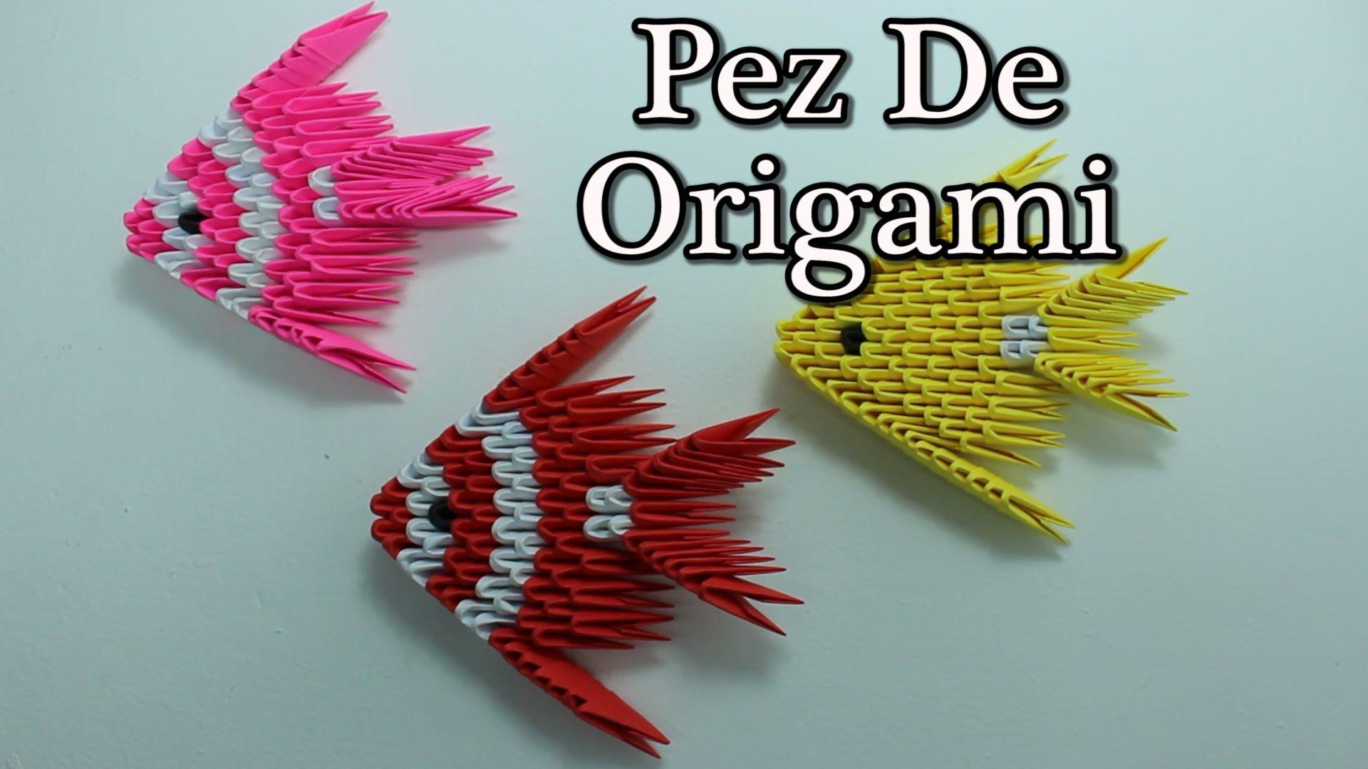 VIDEO. como realizar UN PEZ con tecnica 3D Origami Fish ... - photo#23