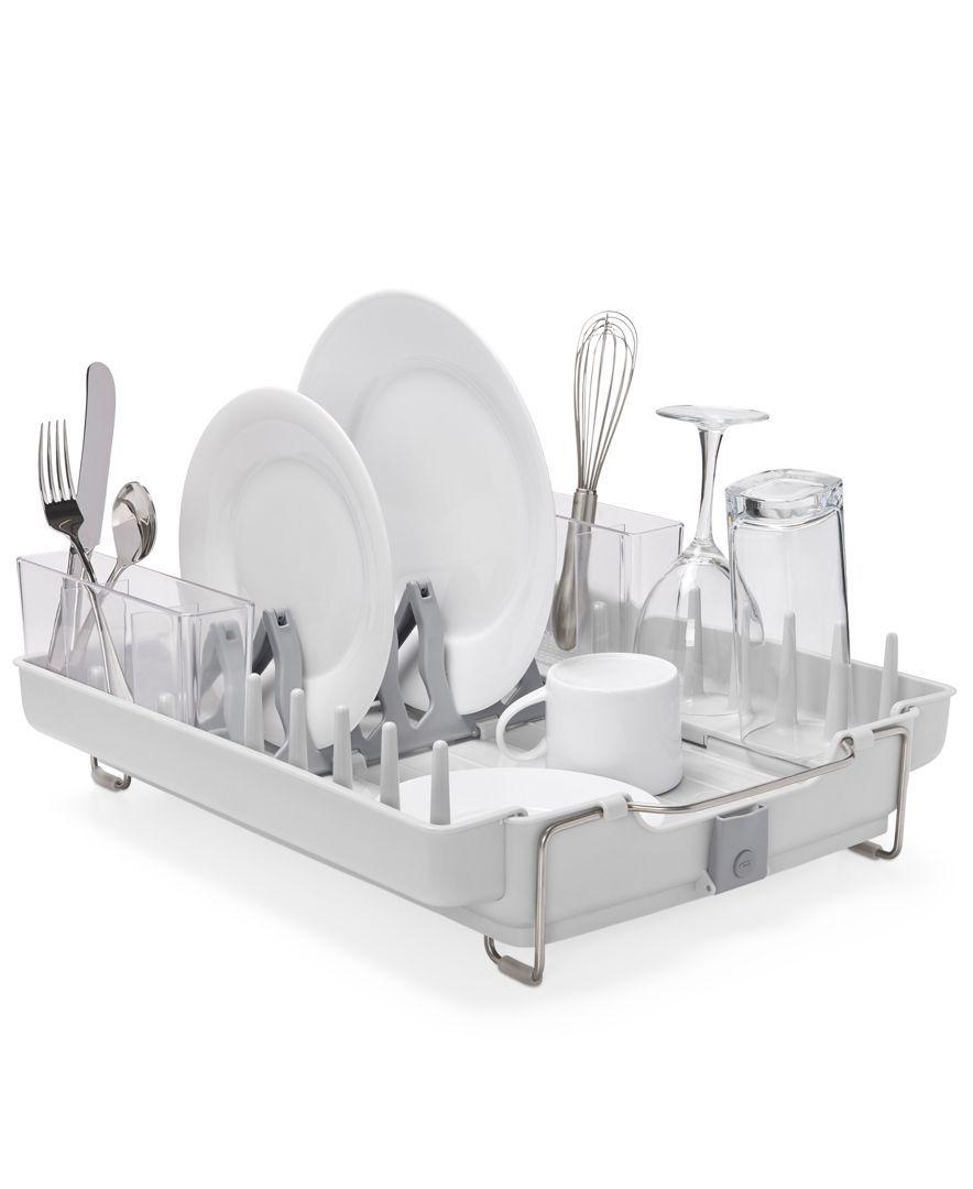Oxo Good Grips Foldaway Dish Rack Cleaning Organizing For The Home Macy S Dish Rack Drying Dish Racks Good Grips
