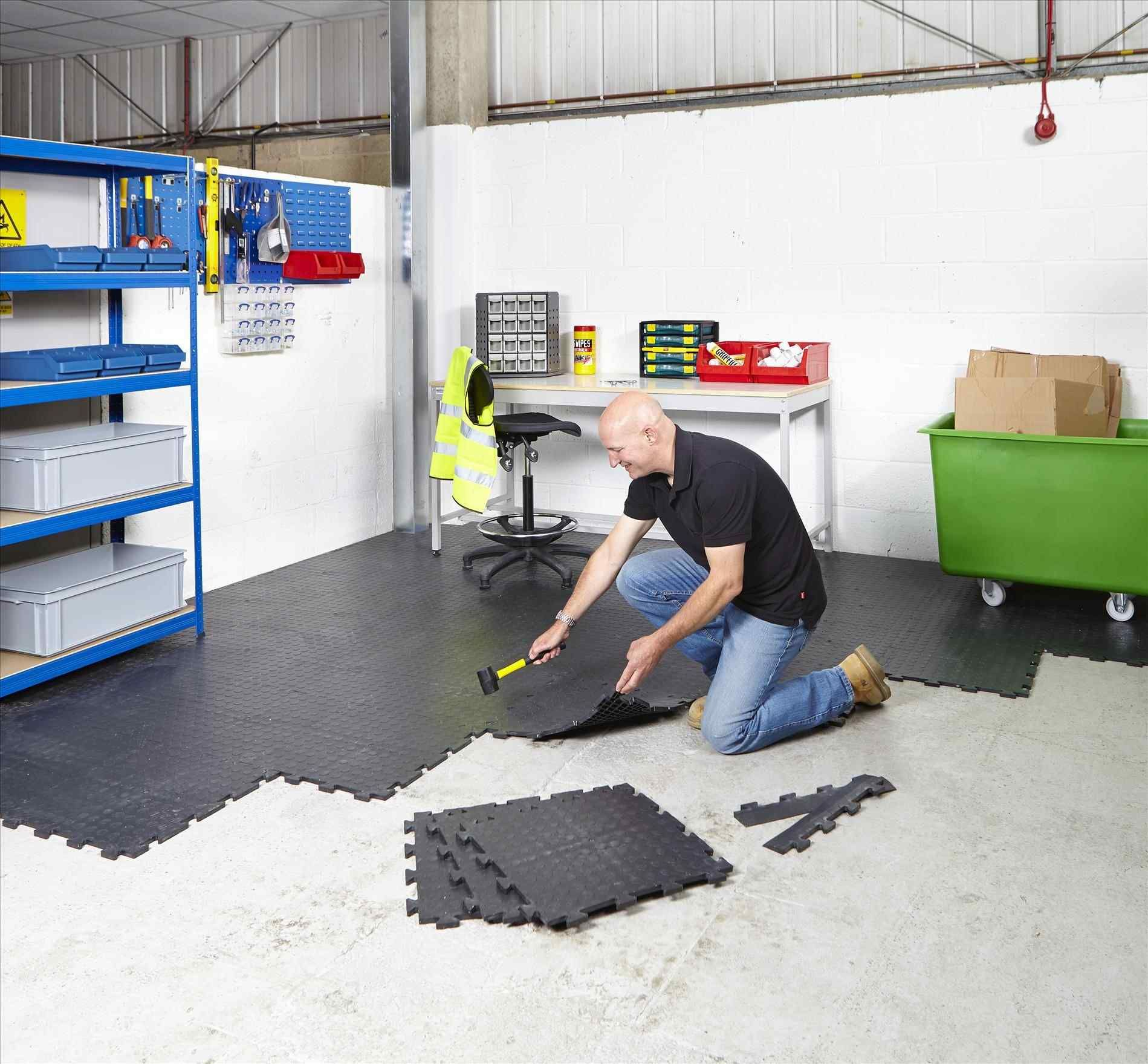 Garage Gym Flooring Ideas Garage floor tiles