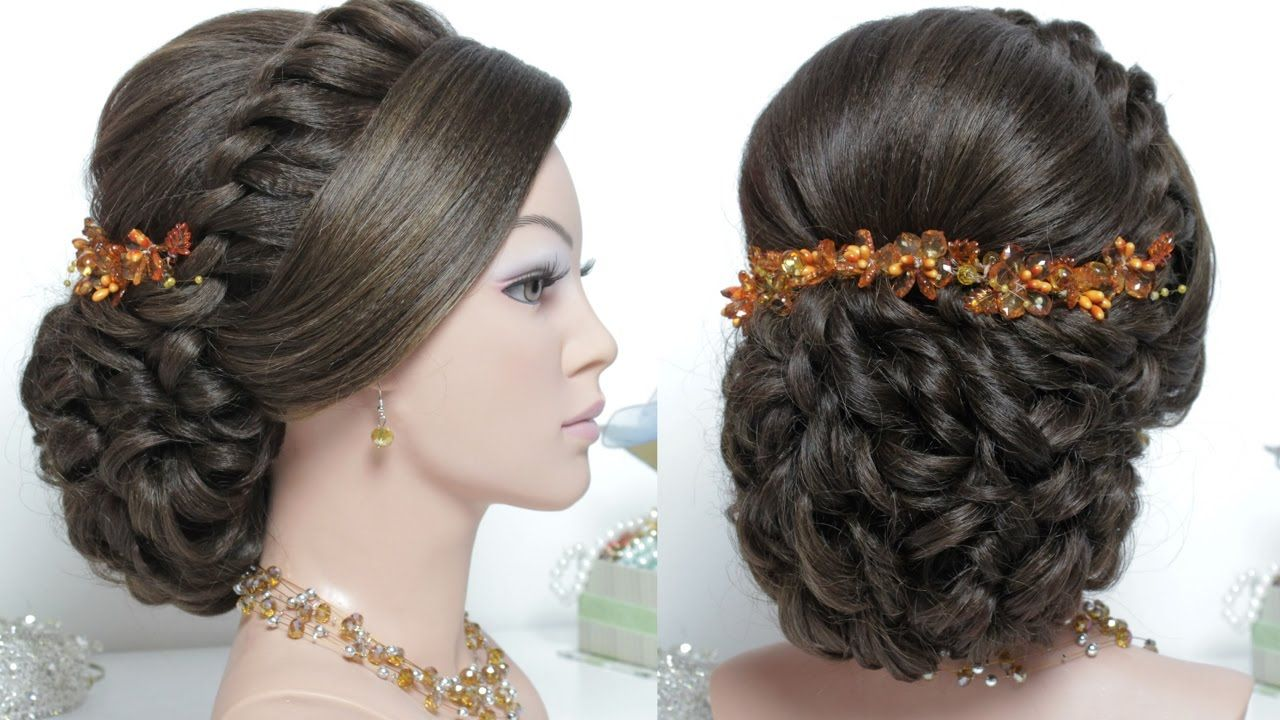 bridal hairstyle for long hair tutorial. wedding updo step by step