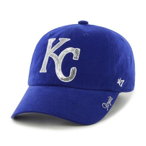 6e291e6eef313 Kansas City Royals 47 Brand Women s Sparkle Blue Clean Up Adjustable ...