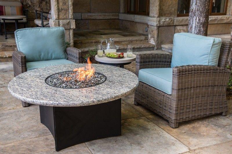 Oriflamme Gas Fire Pit Table Optima Giallo Santo Gas Fire Pit Table Fire Pit Table Granite Fire Pit