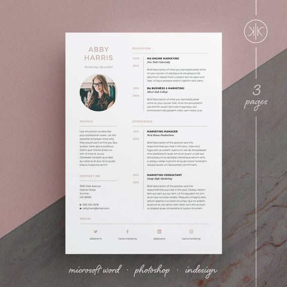 abby resume  cv template