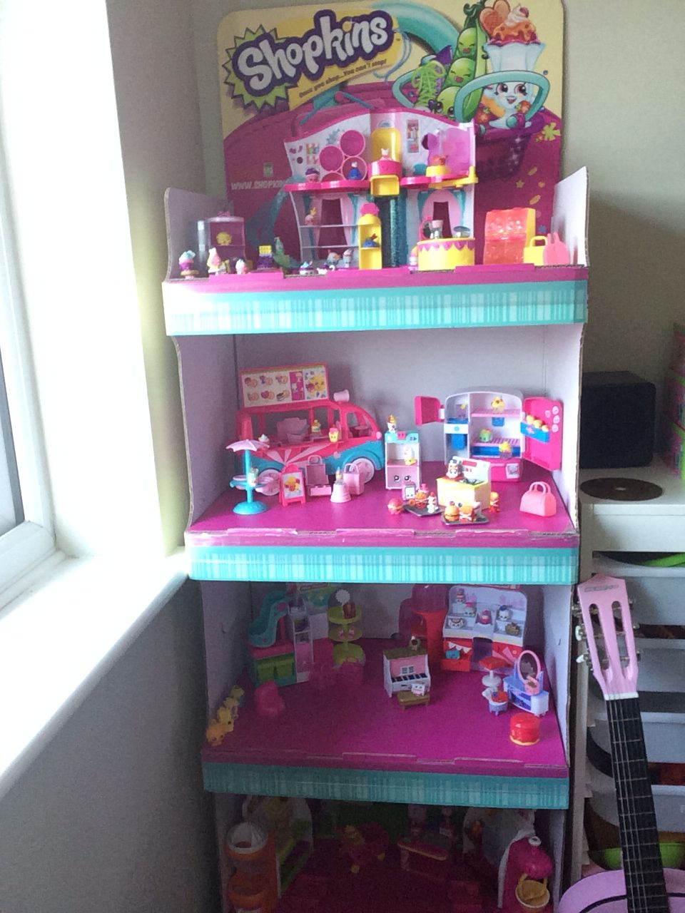 Blue Storage Kids Toy Box Playroom Furniture Bedroom Girls: Shopkins, Shoppies Dolls