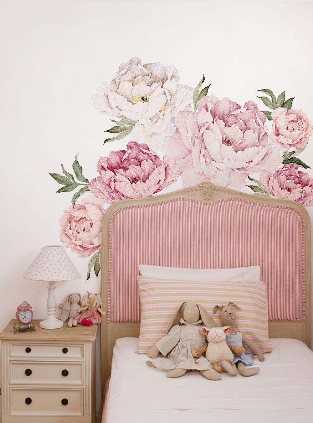 Peony Flower Wall Stickers | beauty in 2019 | Flower wall ...
