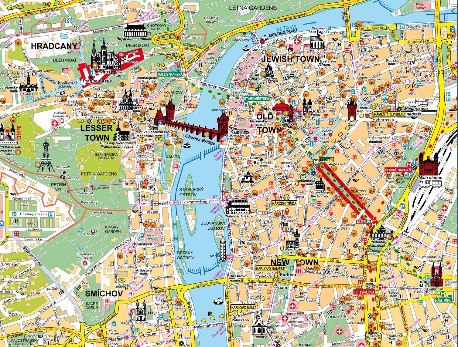 Cartina Geografica Europa Budapest.Mappa Di Praga Cartina Di Praga Viaggio A Praga