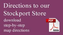 Map Directions to The Wedding Dress and Prom Dress Bridal Factory Outlet - Stockport