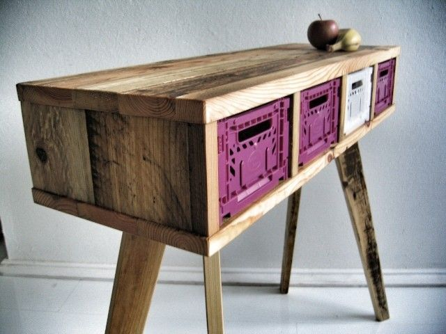 meuble-bois-palette-recyclage-3 Wood+working Pinterest