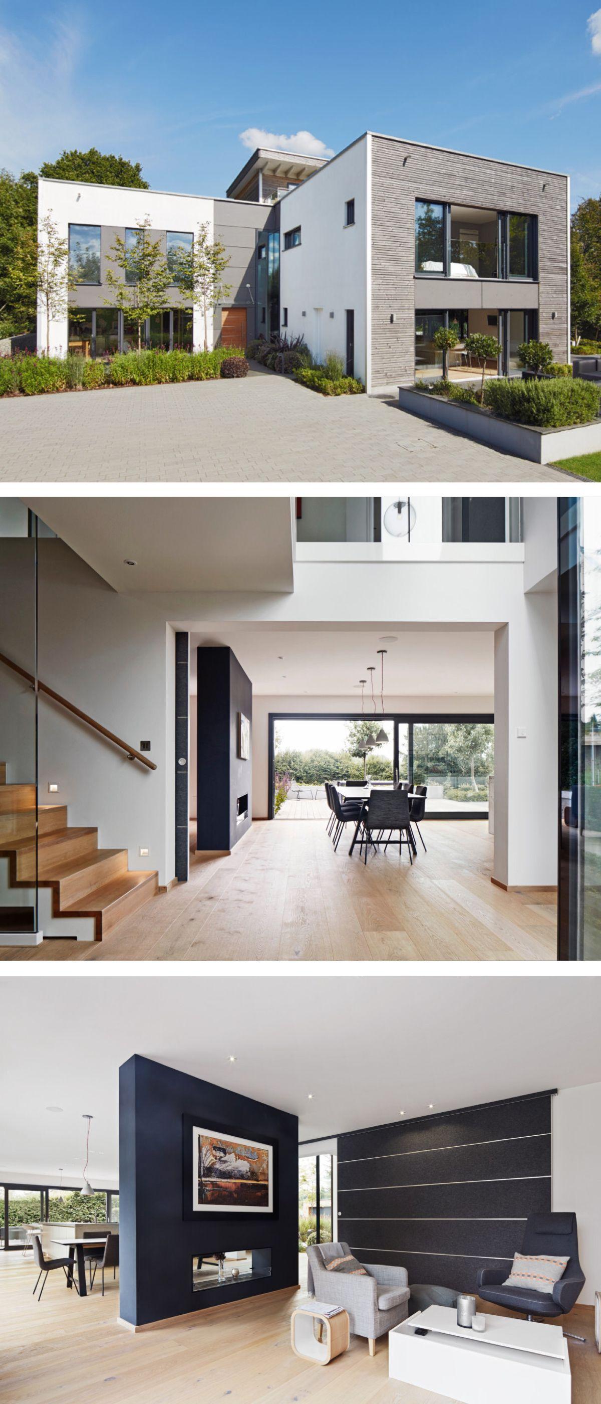 AuBergewohnlich Modernes Einfamilienhaus Mit Flachdach Architektur U0026 Galerie   Fertighaus  Bauen Ideen Design Haus Weald House Von