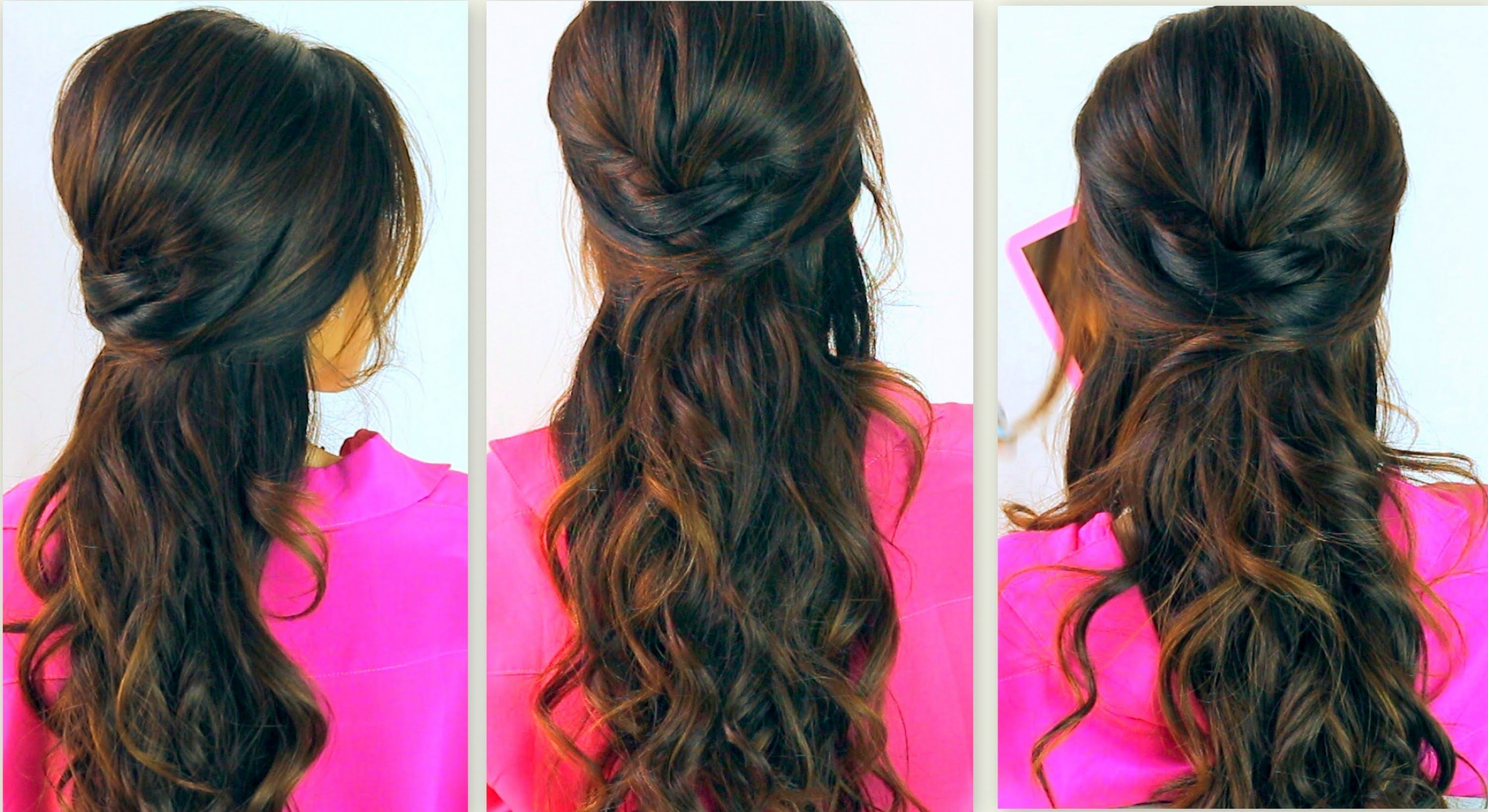 Cute backtoschool hairstyles everyday poofy curly halfup
