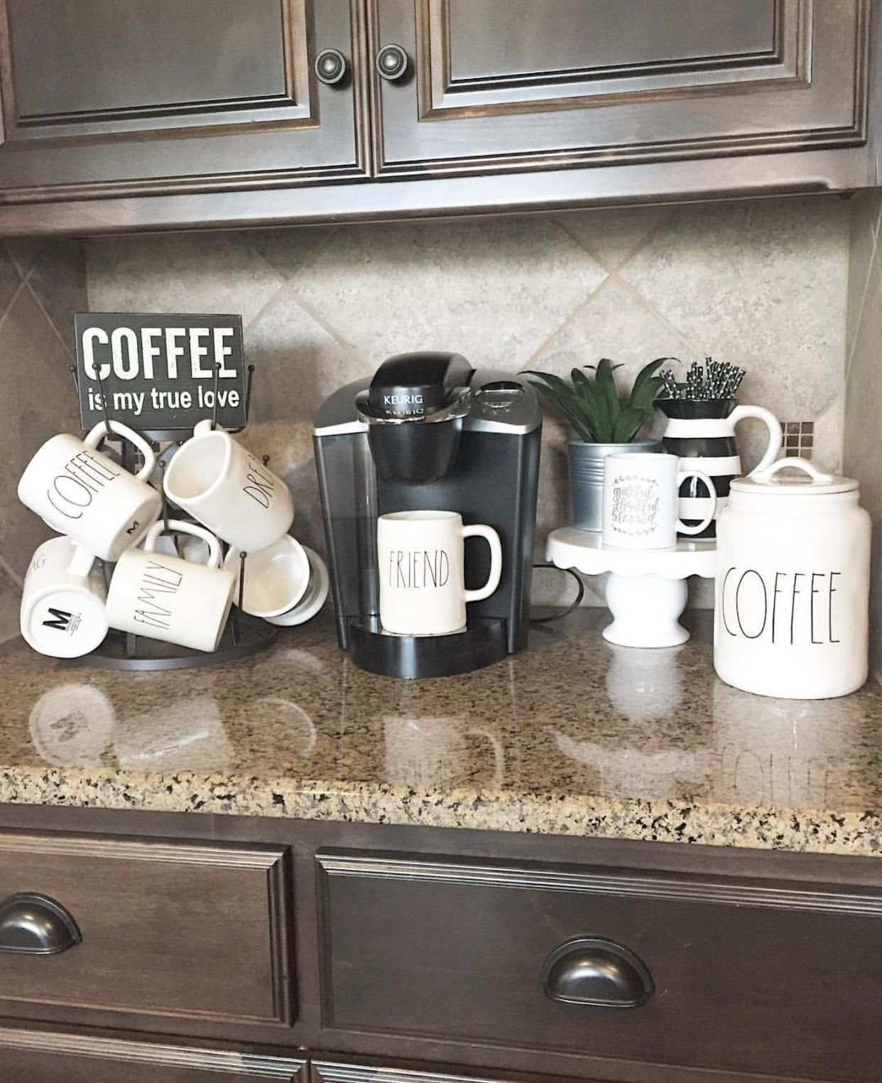 Home Coffee Bar Design Ideas: Coffee Bar Home Image By Cherie Clark On For The Kitchen