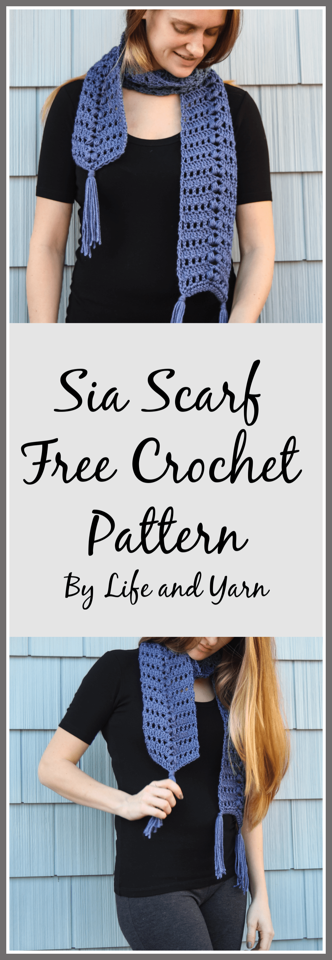 Sia Scarf Free Crochet Pattern - Life and Yarn Easy Crochet Pattern