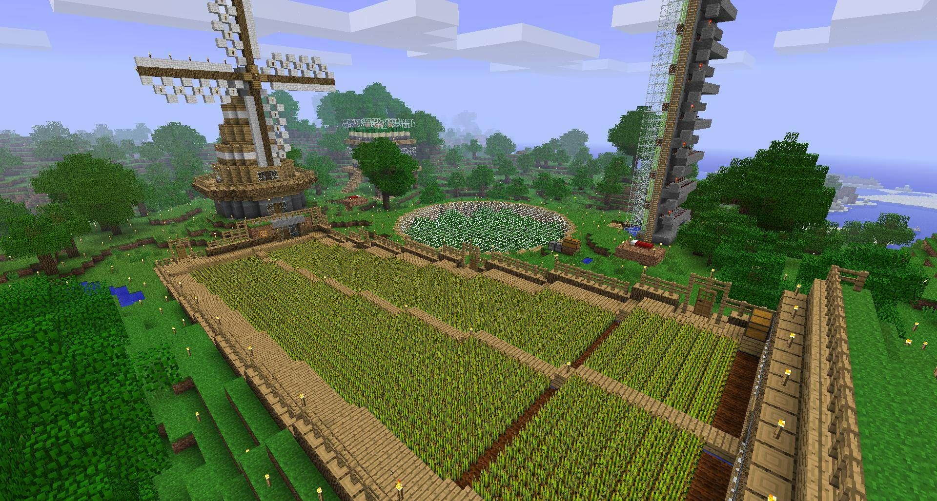 Minecraft Automatic Farm Google Search Minecraft Automatic Farm Minecraft Farm Minecraft