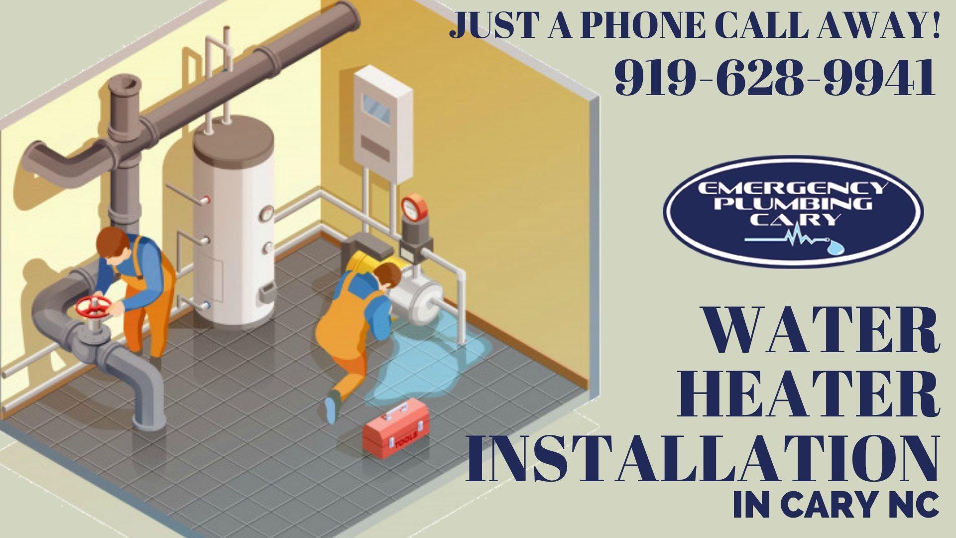 Water Heater Installation Cary NC, Raleigh NC Plumbing