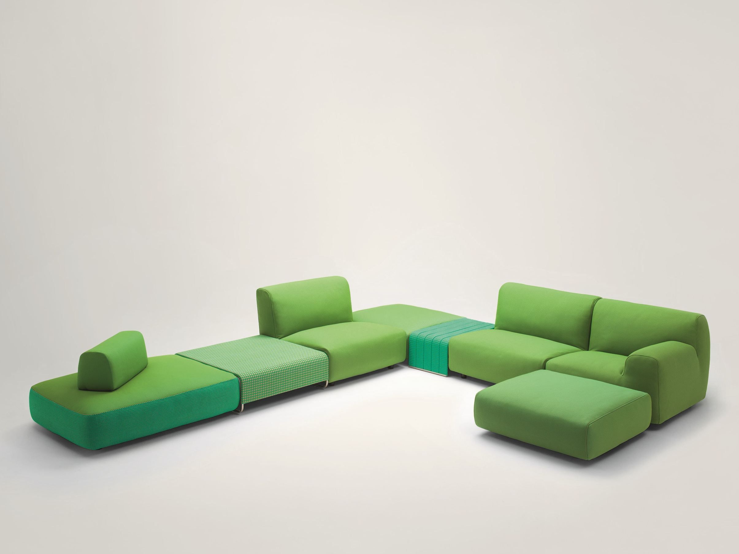 Sectional sofa with removable cover WEL E Aqua Collection by