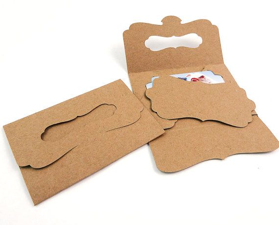 gift card holders 20 kraft folders with by wishdesignstudio 24 00