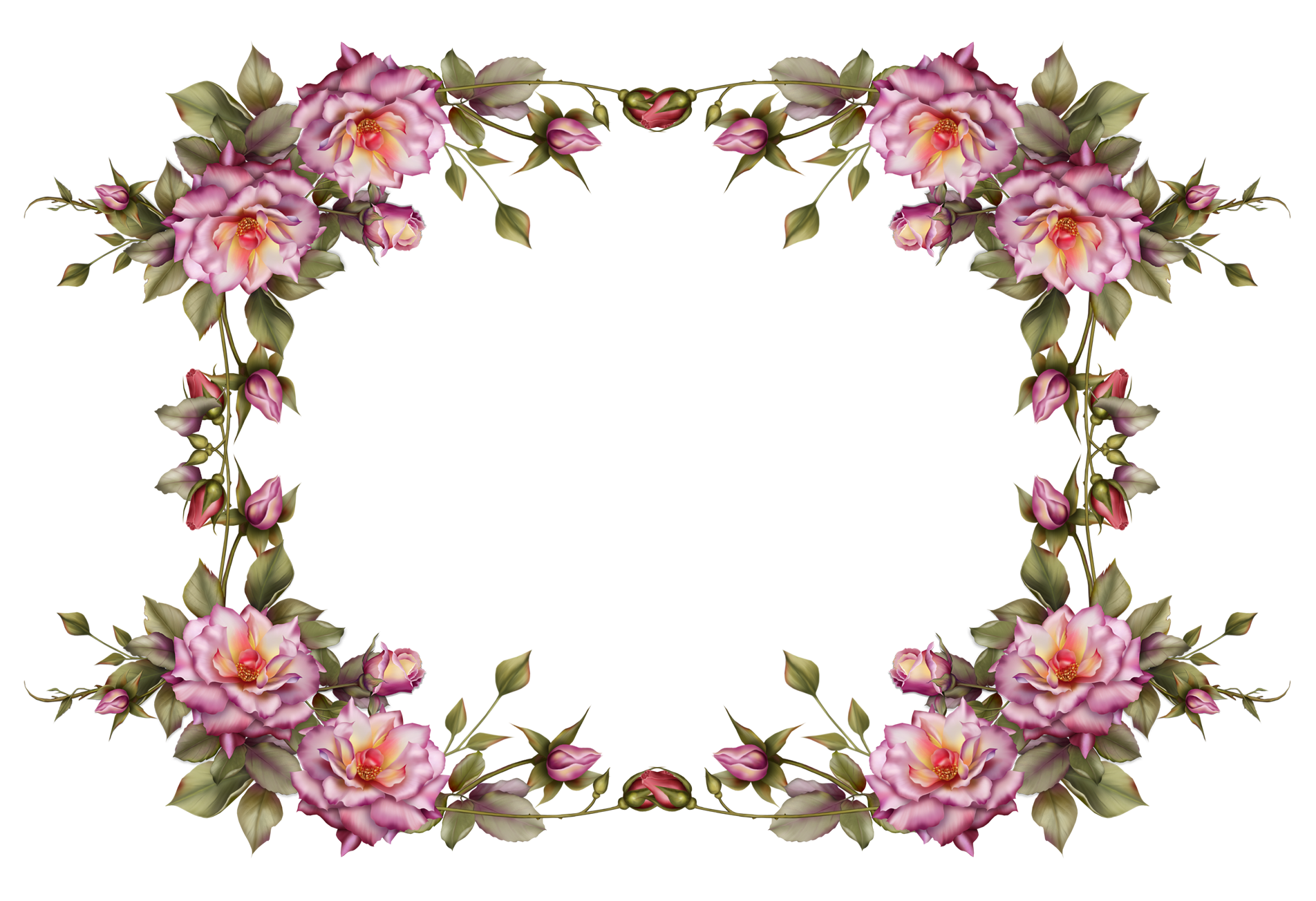Flower Frame By Collect And Creat D69ijjv Png 1904 1304 Flower Frame Flower Art Flower Border