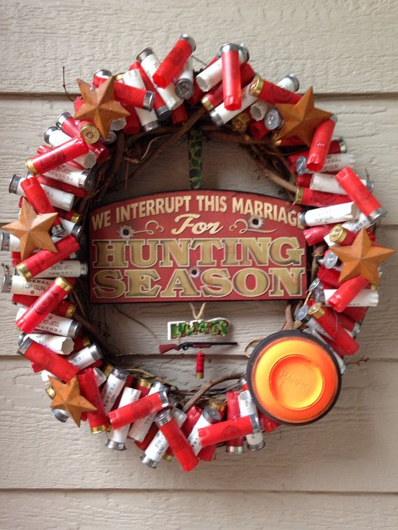 Shotgun shell hunting wreath