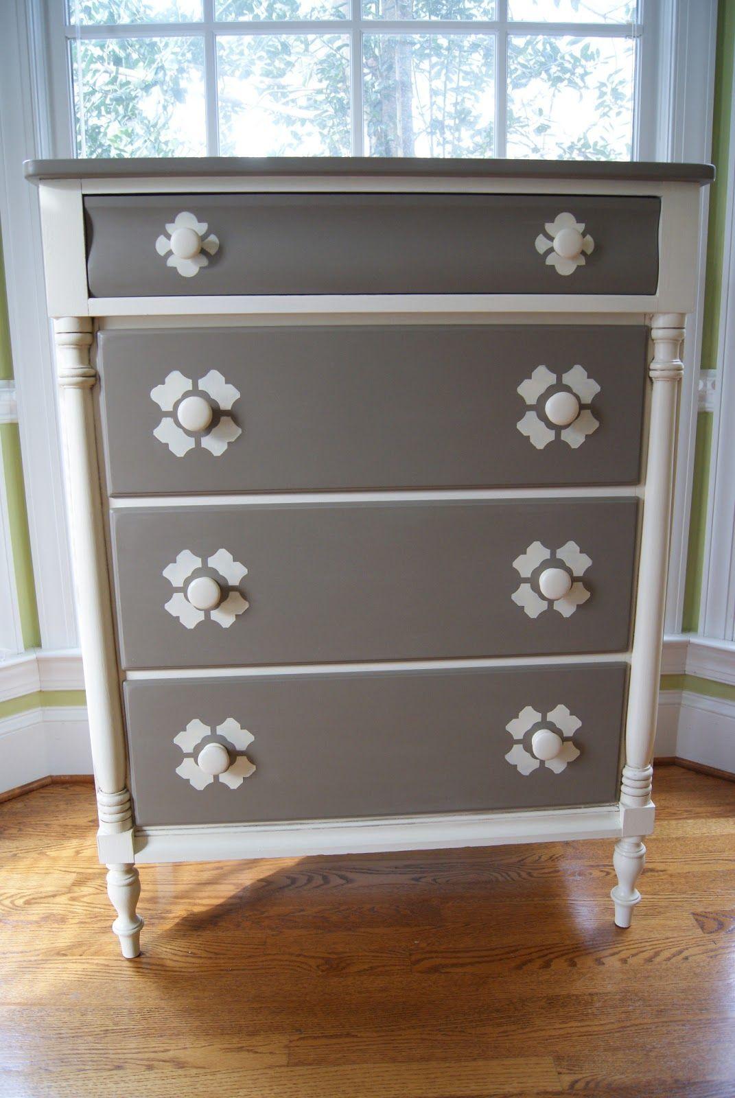 Melissa Fulton Designs Furniture Rehab Two Tone Dresser Furniture