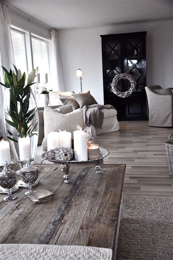Beautiful Sophisticated Modern Shabby Chic Living Room Dining Room