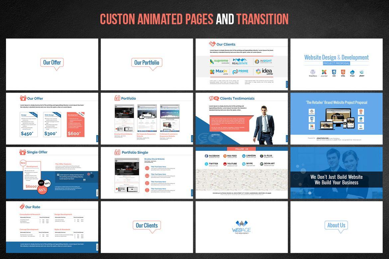 Web Design Development Project Proposal Powerpoint Template 66476 Web Development Design Web Design Design Development